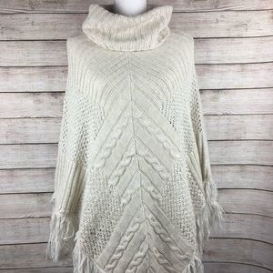 Altar'd State Frayed Sweater Poncho